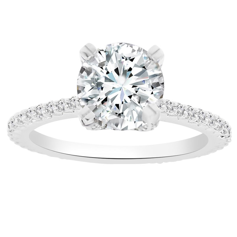 1/2ct tw NewBorn Lab Created Diamond Engagement Ring Setting in 14K White Gold
