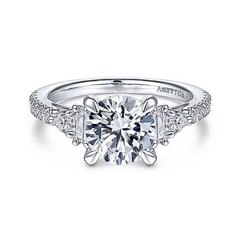 1/3ct tw Diamond Engagement Ring Setting in 18K White Gold
