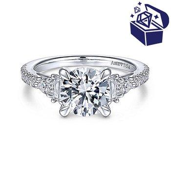 Treasure Hunt Value 1/3ct tw Diamond Engagement Ring Setting in 18K White Gold