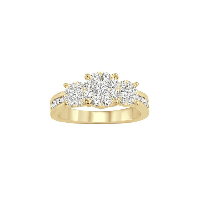 1/2ct tw Diamond Thousand Points of Light Engagement Ring in 14K White & Yellow Gold