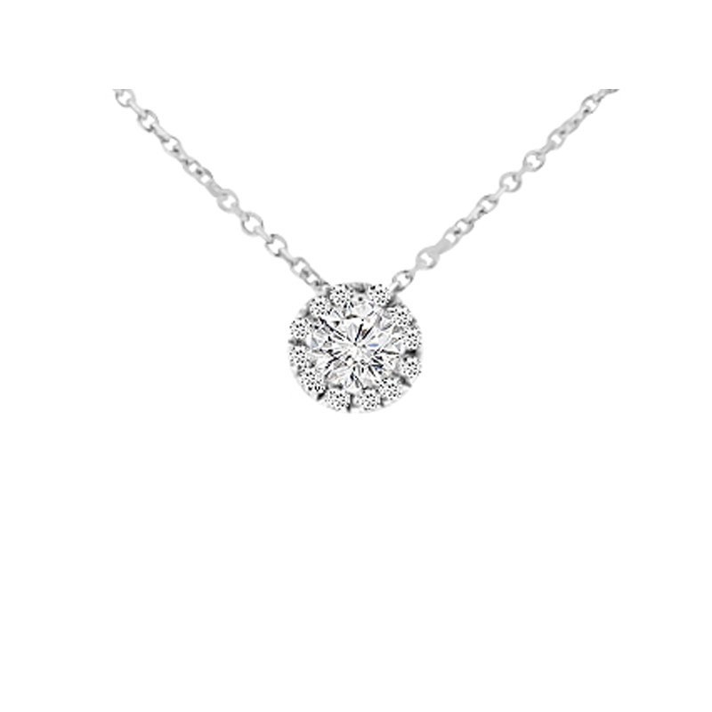 1/3ct tw Diamond Simply Love Collection Necklace in 14K White Gold
