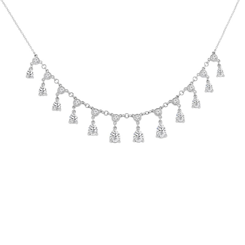3 7/8ct tw Diamond Fashion Necklace in 14K White Gold