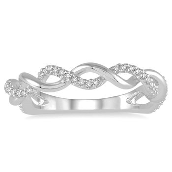 1/8ct tw Diamond Together Forever Ring in 10K White Gold