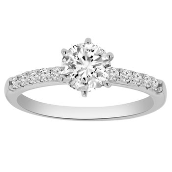 1ct tw Diamond Engagement Ring in 14K White Gold