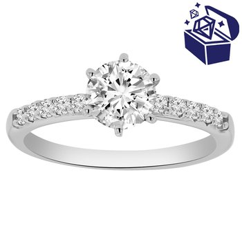 Treasure Hunt Value 1ct tw Diamond Engagement Ring in 14K White Gold