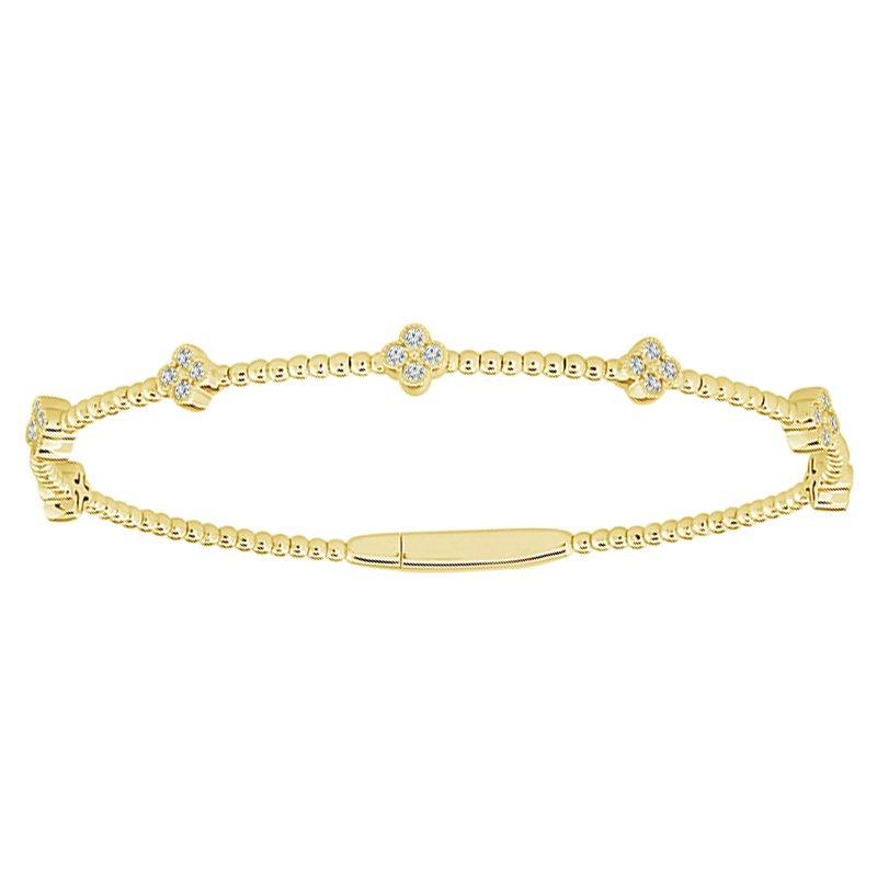 3/8ct tw Diamond Flexi Collection Bangle Bracelet in 14K Yellow Gold