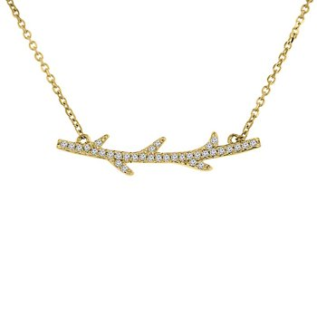 1/10ct tw Diamond Bar Necklace in 10K Yellow Gold