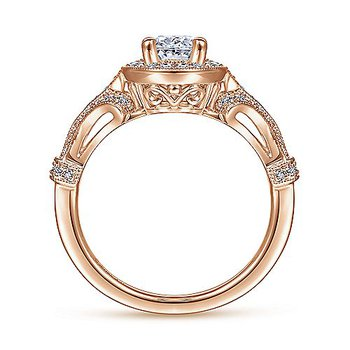 1 1/3ct tw Diamond Halo Engagement Ring in 14K Rose Gold