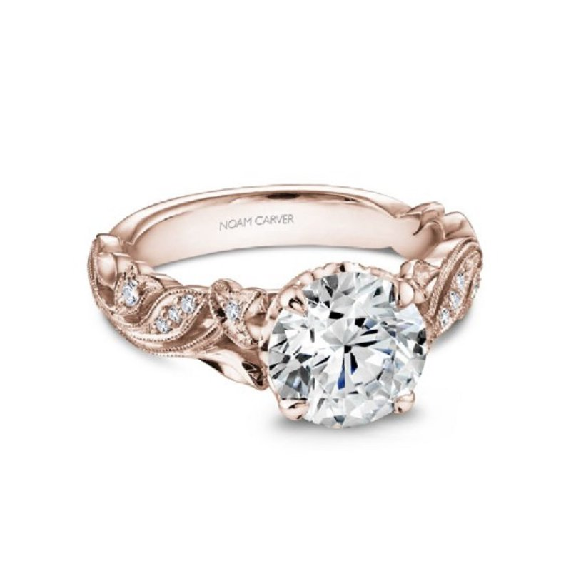.06ct tw Diamond Engagement Ring Setting in 14K Rose Gold