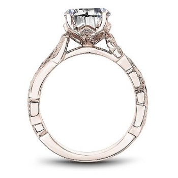 .06ct tw Diamond Engagement Ring Setting in 14K Rose Gold