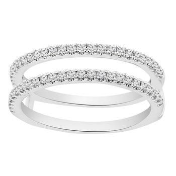 1/3ct tw Diamond Wedding Ring Gurad in 14K White Gold