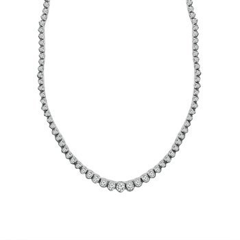 15ct tw Diamond Riviera Necklace in 14K White Gold