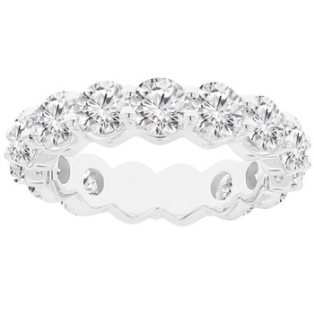 4 5/8ct tw NewBorn Lab Created Diamond Eternity Band Ring in 14K White Gold