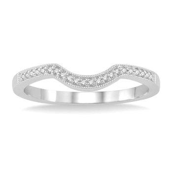 1/20ct tw Diamond Wedding Ring in 14K White Gold