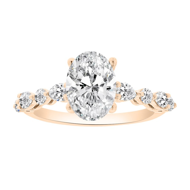 1/2ct tw NewBorn Lab Created Diamond Engagement Ring Setting in 14K Rose Gold