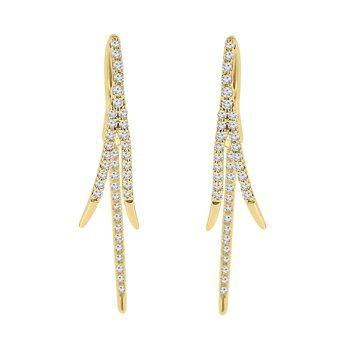 1/3ct tw Diamond Fashion Earrings in 14K Yellow Gold