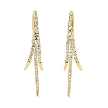 1/3ct tw Diamond Fashion Earrings in 14K Yellow Gold