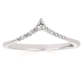 1/8ct tw Diamond Stackable Ring in 14K White Gold