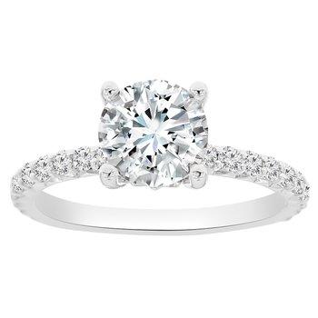 3/8ct tw NewBorn Lab Created Diamond Fleur De Lis Engagement Ring Setting in 14K White Gold