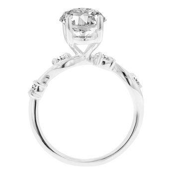 3/8ct tw NewBorn Lab Created Diamond Engagement Ring Setting in 14K White Gold