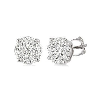 1/2ct tw Diamond Thousand Points of Light Stud Earrings in 14K White Gold