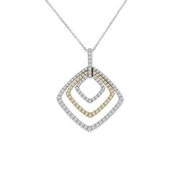 1ct tw Diamond Fashion Necklace in 14K White & Yellow Gold