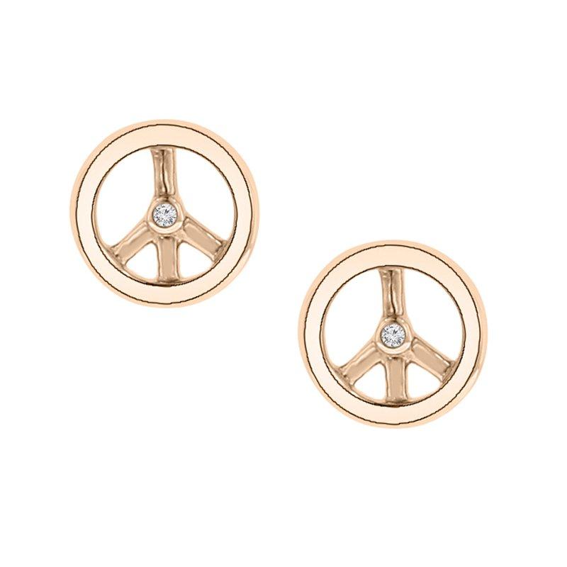 .01ct tw Diamond Fashion Stud Earrings in 10K White & Rose Gold