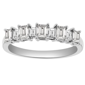 3/4ct tw Diamond Stackable Ring in 18K White Gold