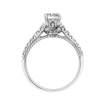 1/4ct tw Diamond Fleur de Lis Engagement Ring Setting in 18K White Gold