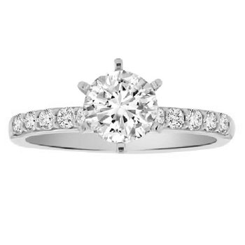 1ct tw NewBorn Lab Created Diamond Engagement Ring in 14K White Gold