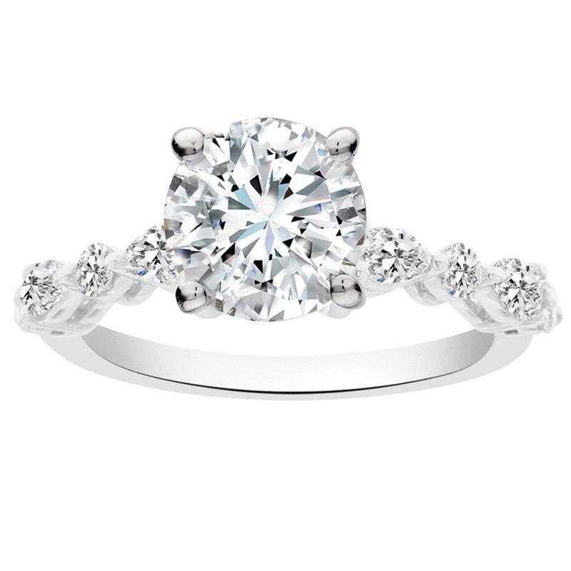 2ct tw NewBorn Lab Created Diamond Engagement Ring in 14K White Gold