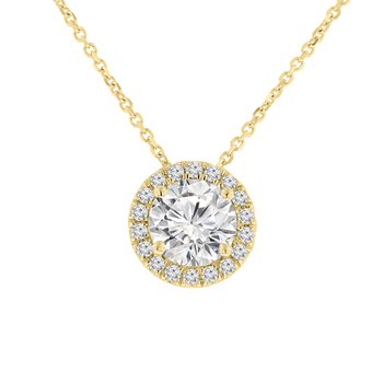 1 5/8ct tw NewBorn Lab Created Diamond Simply Love Collection Necklace in 14K Yellow Gold