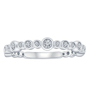 1/3ct tw Diamond Stackable Ring in 10K White Gold
