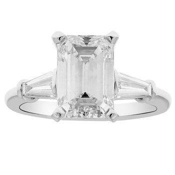 3 1/3ct tw NewBorn Lab Created Diamond Engagement Ring in 14K White Gold