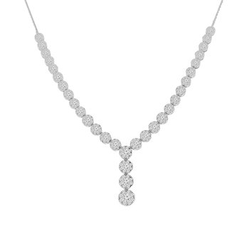 3 1/4ct tw Diamond Thousand Points of Light Necklace in 14K White Gold