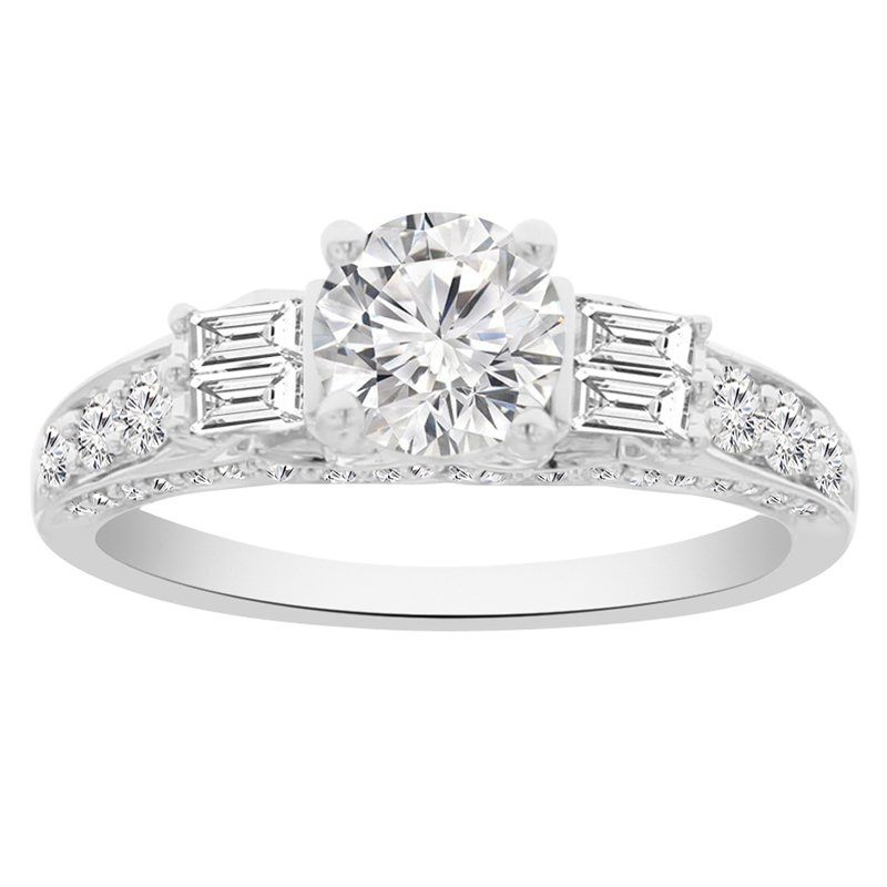 1 1/2ct tw Diamond Engagement Ring in 18K White Gold