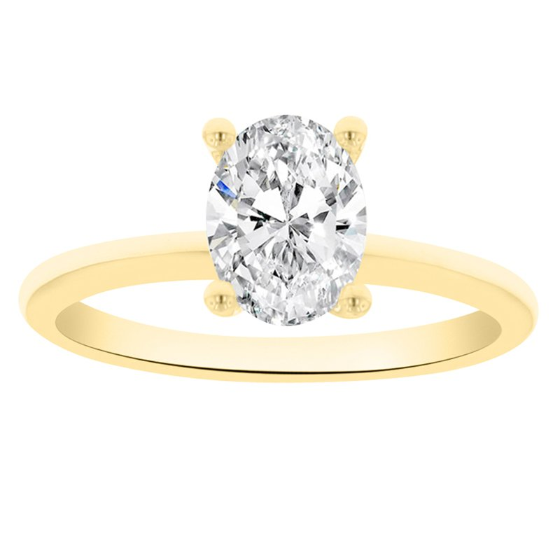 Solitaire Engagement Ring Setting in 14K Yellow Gold