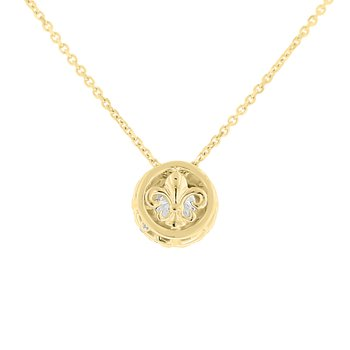 1/2ct tw NewBorn Lab Grown Diamond Simply Love Collection Necklace in 14K Yellow Gold