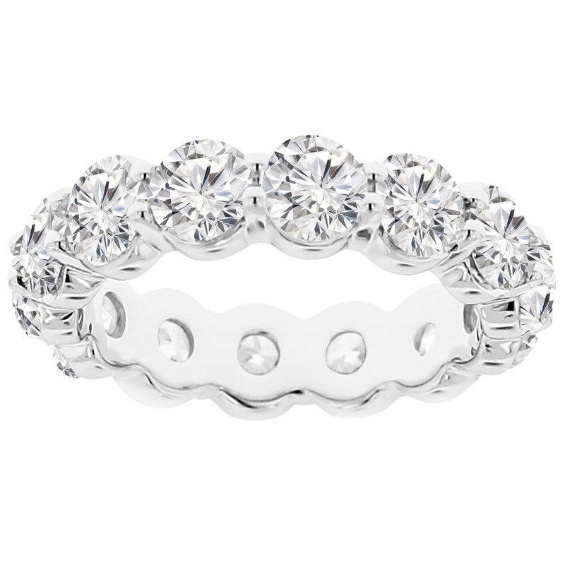 5 1/2ct tw NewBorn Lab Created Diamond Eternity Ring in 14K White Gold