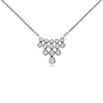 1/4ct tw Diamond Fashion Necklace in 14K White Gold