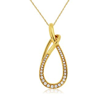 1/5ct tw Diamond Fashon Necklace in 14K Yellow Gold