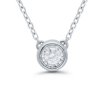 1/10ct tw Diamond Solitaire Necklace in Sterling Silver