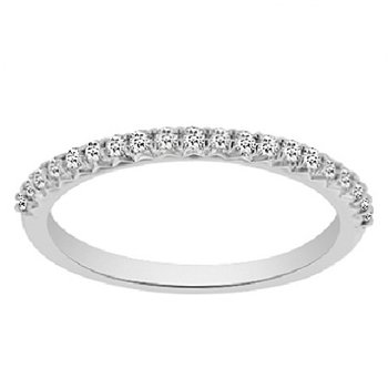 1/5ct tw NewBorn Lab Created Diamond Wedding Ring in 14K White Gold