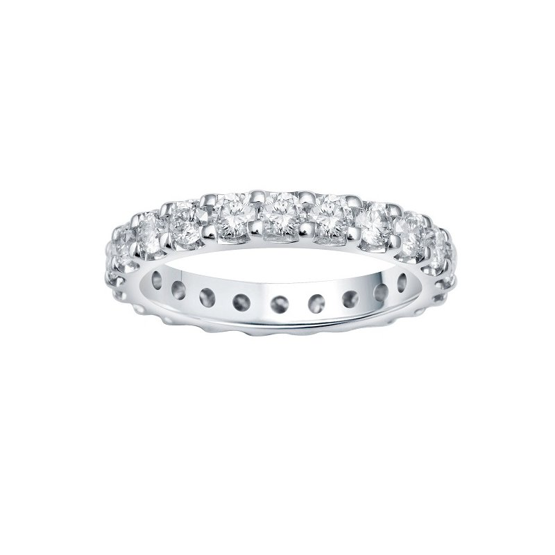 2ct tw Diamond Eternity Ring in 14K White Gold