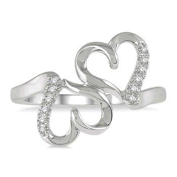 1/14ct tw Diamond Heart Ring in 10K White Gold