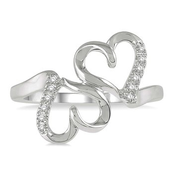 1/14ct tw Diamond Heart Ring in 10K White Gold