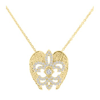 3/8ct tw Diamond Rise Up Nola Collection Necklace in 10K Yellow Gold