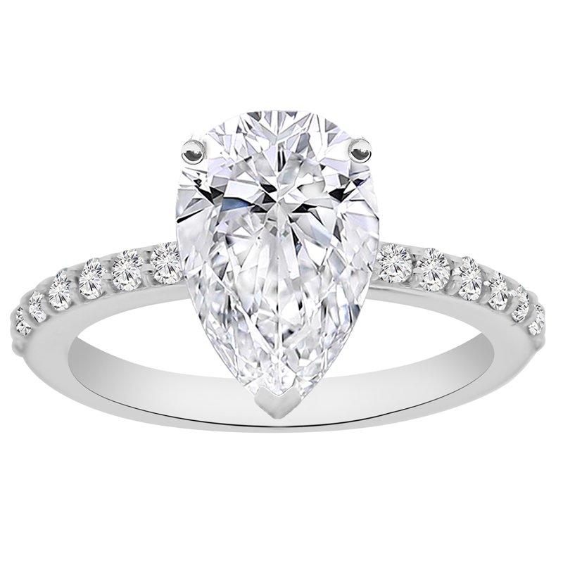 1/4ct tw NewBorn Lab Created Diamond Engagement Ring Setting in 14K White Gold