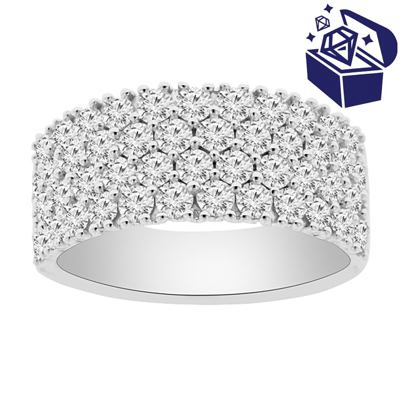 Treasure Hunt Value 1 7/8ct tw Diamond Fashion Ring in 18K White Gold