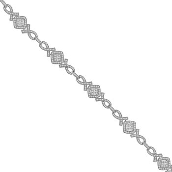 1 3/4ct tw Diamond Fashion Bracelet in 14K White Gold